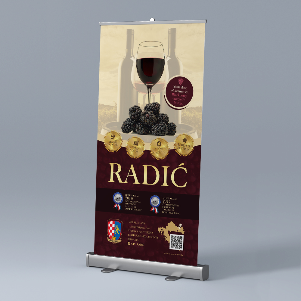 Radic Blackberry Wine Roll Up Banner