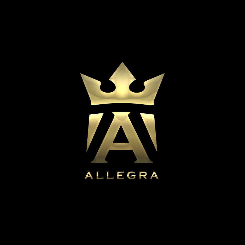 Allegra DJ logotype design