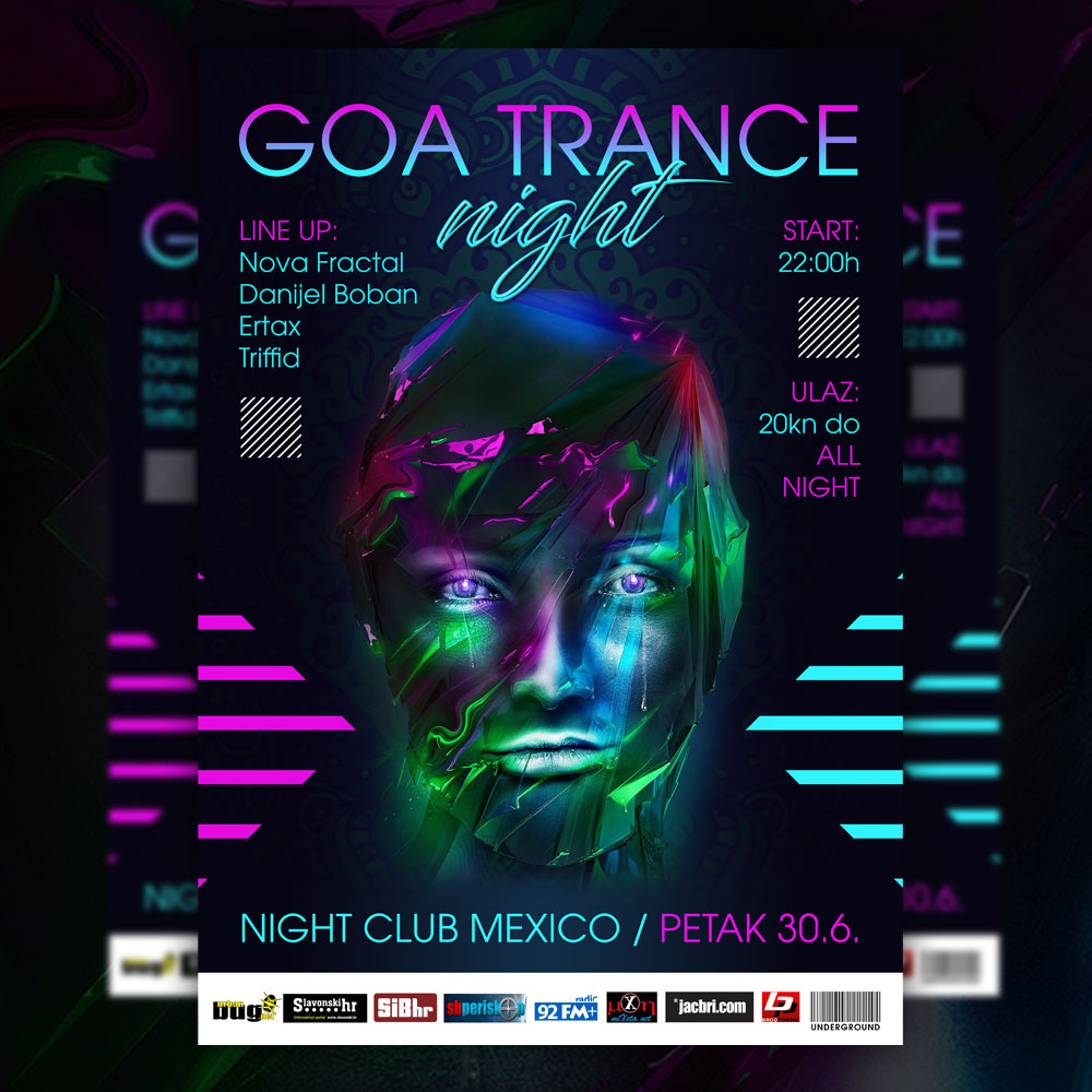 Goa Trance Night flyer